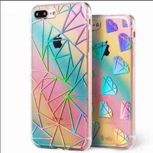 IPhone 6/6S Plus Holographic Rainbow Geo Case